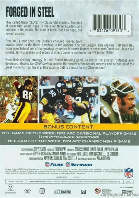 behind steel curtain nfl dynasty collection the pittsburgh steelers behind