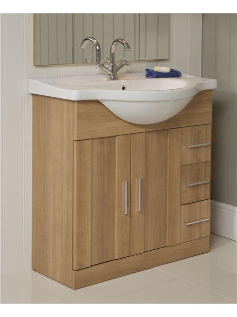 Vanity Basins Units by Cordoba Oak 75cm Vanity Unit Basin