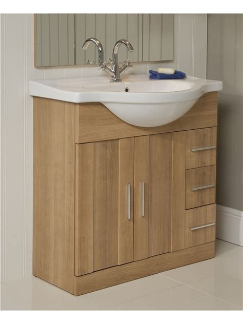 Vanity Units And Basins by Cordoba Oak 75cm Vanity Unit Basin