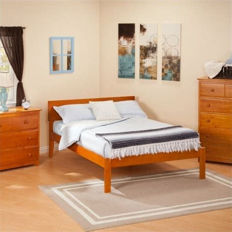 Free Furniture Orlando by Atlantic Furniture Orlando Bed With Open Foot Rail In Caramel Latte Ar81x1007