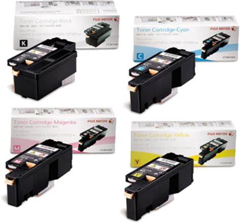 Toner Fuji Xerox Cm215fw 1 set genuine original fuji xerox ct201591 ct201592 ct201593 ct201594 toner for cp105b cp205