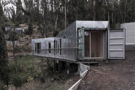 stay in a shipping container home built into a