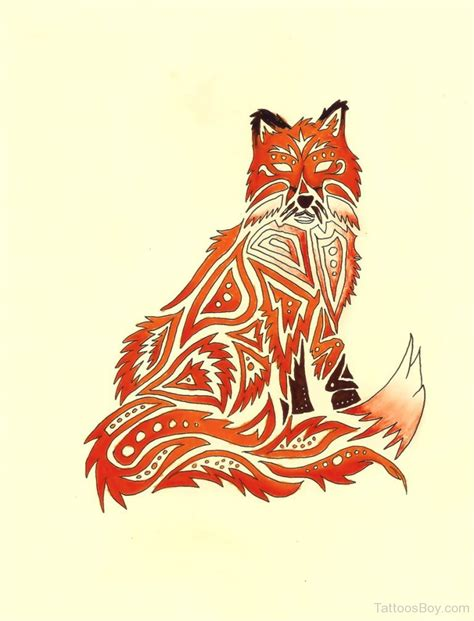 tribal fox tattoo fox tattoos designs pictures page 11