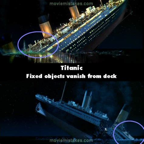 titanic film bloopers 15 biggest mistakes in titanic
