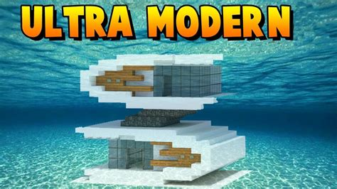 how to build a modern house in minecraft minecraft how to build an ultra modern house tutorial youtube
