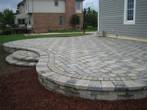 raised patio pavers brick pavers canton plymouth northville novi michigan
