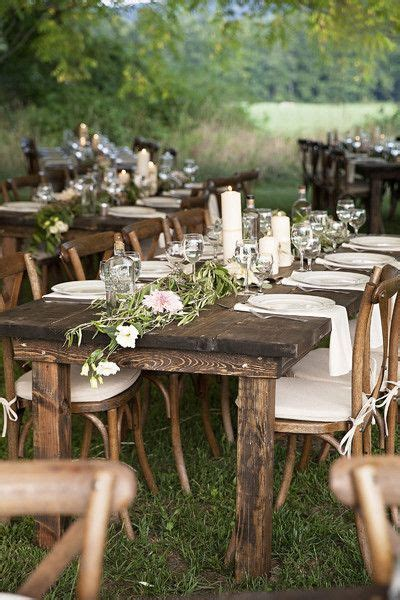 best wood for outdoor table 25 best ideas about farm table wedding on