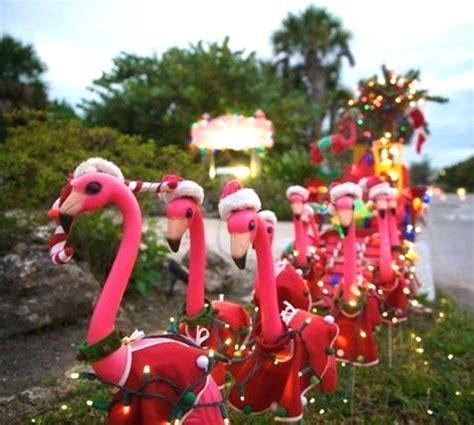 Wonderful Aqua Christmas Lights #2: Orlando-Yard-Flamingos.png