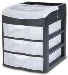 Small Desktop Drawer Unit Sterilite 2063 3 Drawer Desktop Unit