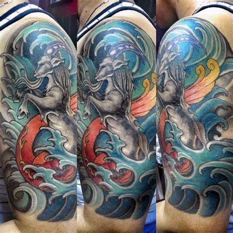 oriental goat tattoo 60 capricorn tattoos for men astrological ink design ideas