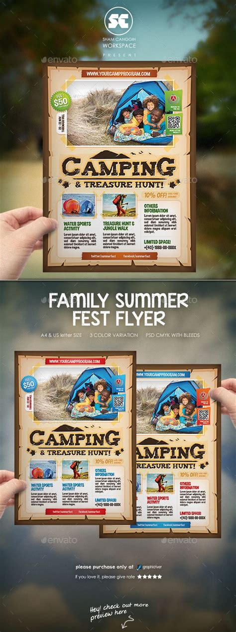 1000 Images About Psd Outdoor Activity Flyer Tempate On Pinterest Summer Picnic Flyer Outdoor Flyer Template