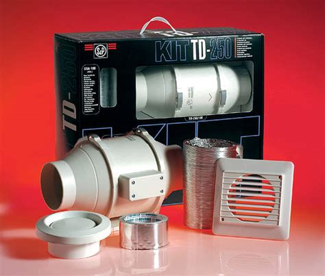 Td Silent 250 Bathroom Extractor Fan Kit Sl Td250 In Line Extractor Fan Kit