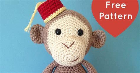 amigurumi pattern monkey heart sew cheeky little monkey free crochet