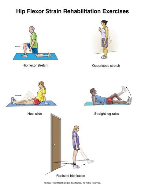 printable hip flexor stretches hip flexor handouts printable and ot explanations
