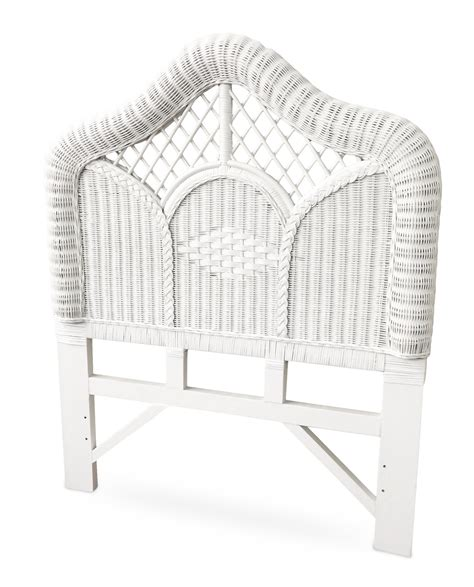 white wicker twin headboard