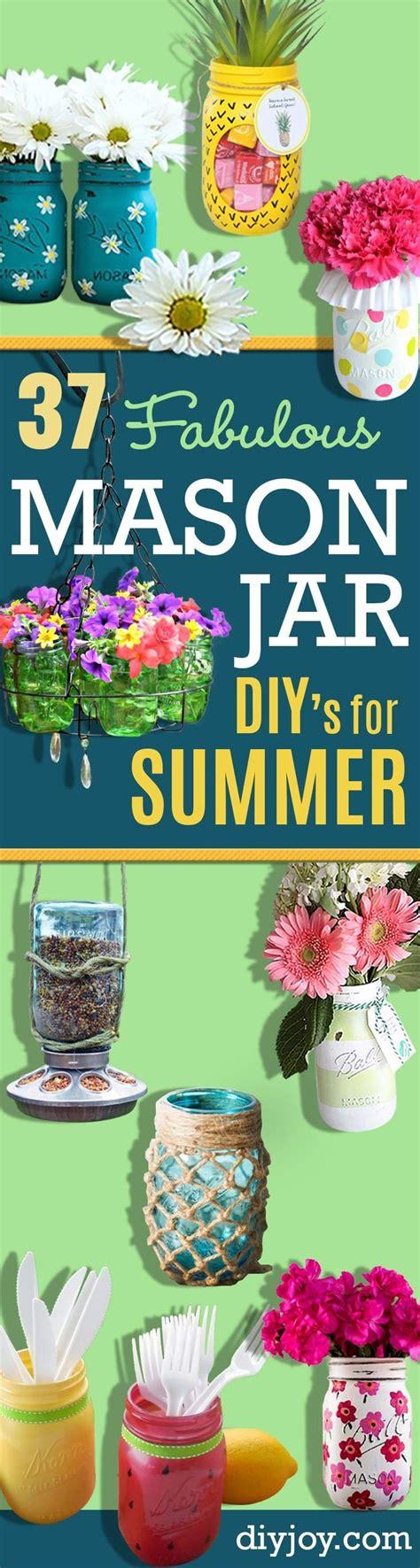fabulous summer crafts decor its overflowing 37 fabulous mason jar diys for summer jars creative and
