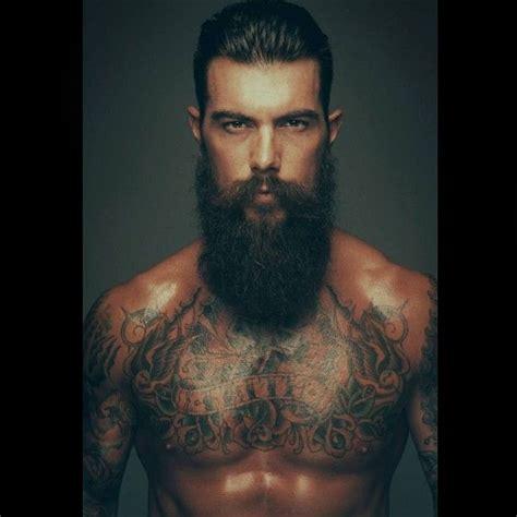 tattoo beard tattooed bearded