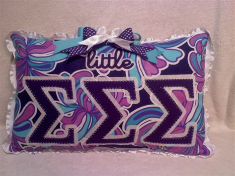 Sorority Pillow by Sorority Letter Or Big Pillow Customize