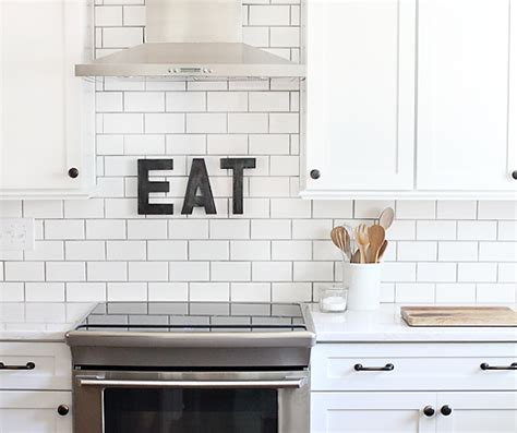White Tiles With Grey Grout Kitchen by White Subway Tile With Grout Design Ideas