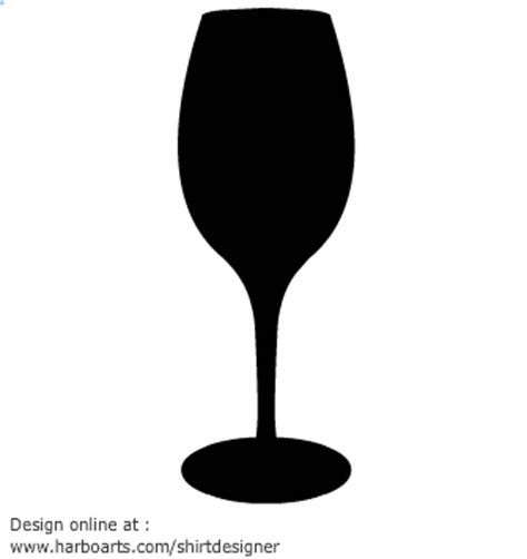 wine silhouette wine glass silhouette clipart best