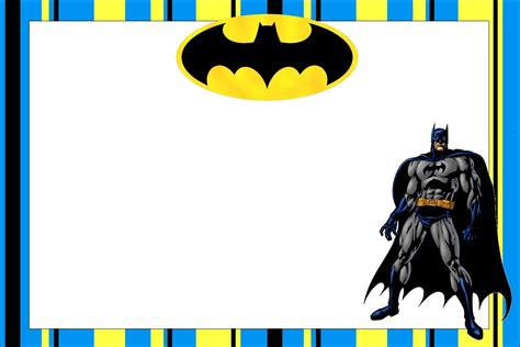 free batman template birthday card batman free printable invitations oh my in