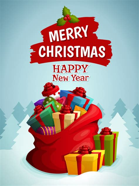 merry christmas  happy  year vectors   psd files