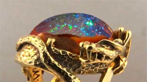 matrix opal ring star fire lagoon matrix fire opal dragon ring youtube