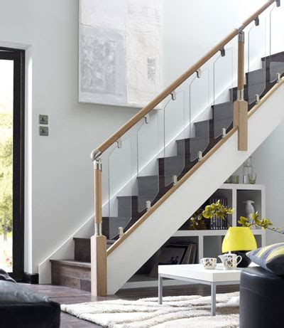 buy a banister fusion glass stair panel 614 x 200 x 6mm multi pk 4 panels