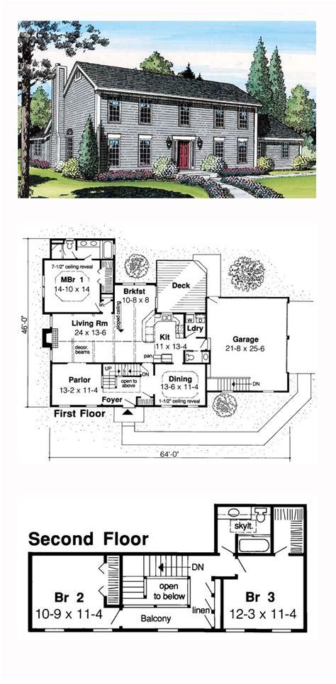 Salt Box House Plans by Colonial Saltbox House Plan 20136 Saltbox