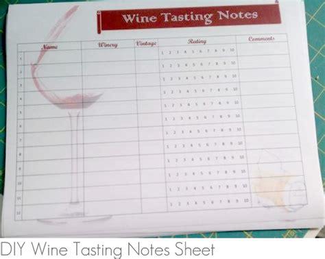 printable wine tasting note cards printable wine tasting notes