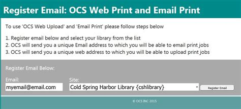 Cold Harbor Library Wireless Printing
