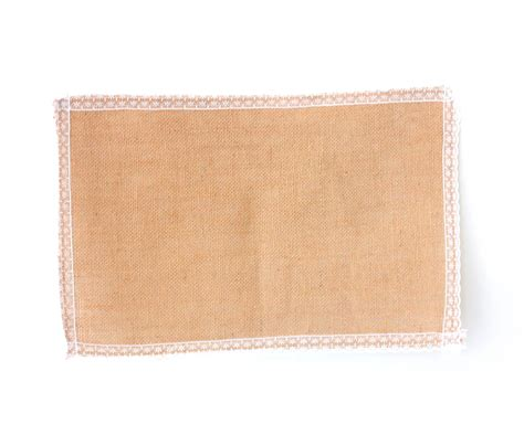 8pcs hessian burlap placemats w lace trim place mats