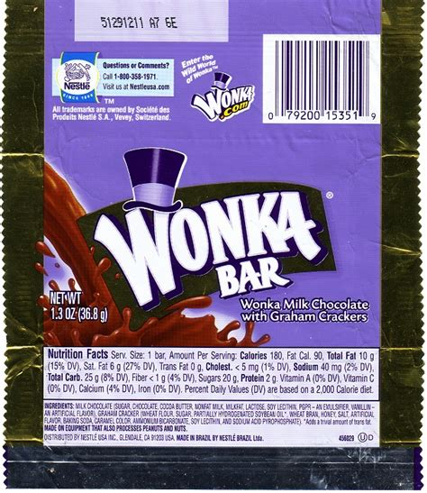 2006 wonka candy wrapper archive