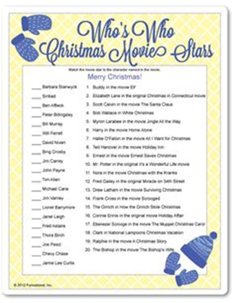printable christmas movie quotes quiz 1000 images about christmas games on pinterest