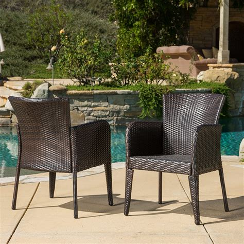 Wicker Patio Dining Chairs by Delgado Outdoor Dining Set Wood Table W Wicker Patio