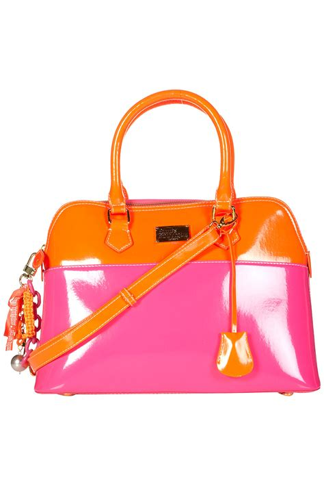 Patent 70s Luggage At Topshop by Topshop Patent Maisy Bag By Pauls Boutique In Orange Lyst