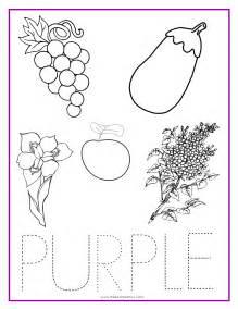 purple color activity sheet colors pinterest color