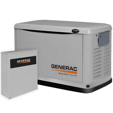 generac guardian 17kw aluminum standby generator system
