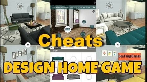 home design cheats free gems design home game cheats code android youtube