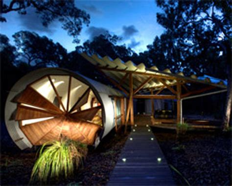sustainable home with unique design features near the