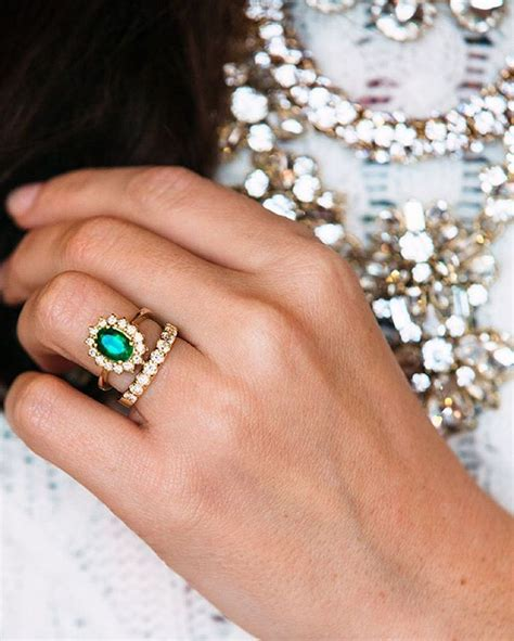 Best 25  Emerald rings ideas on Pinterest   Emerald ring vintage, Emerald engagement rings and