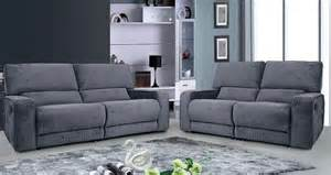Cream Leather Reclining Sofa by Carriss Fabrtic Recliner Sofa Set Grey