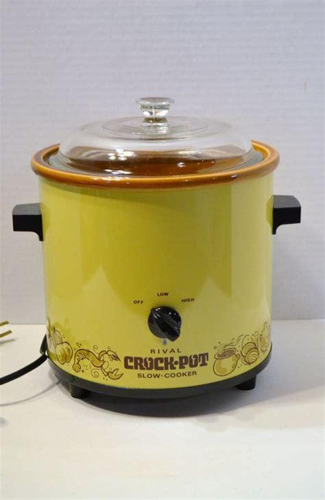 Rival Crock Pot by Reserved Vintage Rival Crock Pot Cooker Harvest