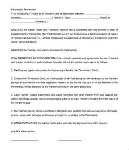 restaurant partnership agreement template 10 partnership termination letter templates free sle