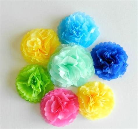 simple tissue paper flowers allfreepapercrafts
