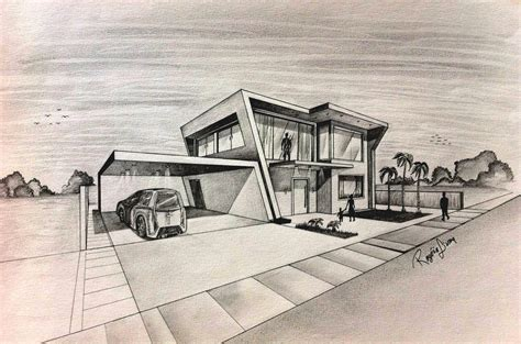 house sketch house architecture drawing modern house