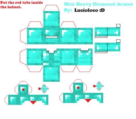 Minecraft Papercraft Armor - papercraft mini heavy armor minecraft