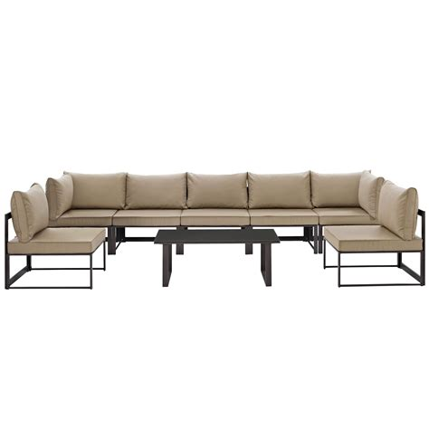 8 piece sectional sofa fortuna 8 piece outdoor patio sectional sofa set brown