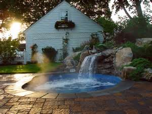 design my backyard custom in ground vinyl spa traditional pool new york by long island hot tub quot hot tub and