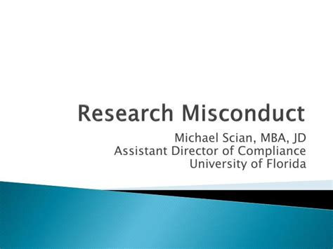 Research Assistant Part Time For Mba by Ppt Research Misconduct Powerpoint Presentation Id 325970